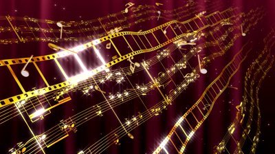 stock-footage-music-notes-score-and-film